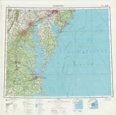 Russian Soviet Military Topographic Maps Washington D C USA 1 1M Ed 1965 | eBay