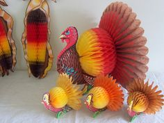 Vintage 7 Pc Lot Beistle Thanksgiving Decorations by BuyBuyBertie