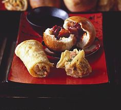 A healthy version of Chinese spring rolls. No deep frying and ready in 20 minutes, better than the take-away