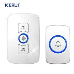 Kerui Wireless Door Bell With 36 Songs 150M Distance EU Plug Wireless Doorbell Plug-In Type Cordless Smart Door Bells Doorbells