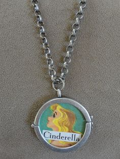 Vintage 1967 Cinderella Pendant with Chain by TicketTrinkets, $30.00