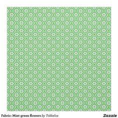 Fabric: Mint green flowers