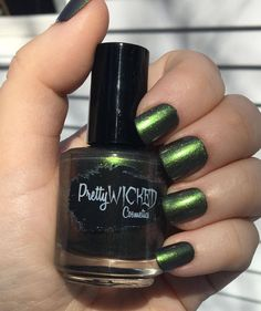 This listing is for a dark green polish with a muddy reddish hue. - Polish name: Faye - This polish is a dark green that appears brighter green in direct sunlight. It has a slight muddy reddish hue in certain lighting. - Shimmer finish. - Two coats to opacity. - Top coat recommended for a glossy appearance. - 5-free. - 5 mL or 15 mL available. - In the pictures: 15ml bottle pictured. Two coats of polish and a clear coat worn. Photos were taken outdoors in direct/indirect sunlight ...