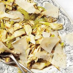 Raw Artichoke Salad, Celery, and Parmesan / Photo by Marcus Nilsson Food Network Recipes, Cooking Recipes, Keto Recipes, Recipes With Parmesan Cheese, How To Cook Artichoke, Artichoke Salad, Vegetarian Main Course, Italian Dinner Recipes, Italian Cooking