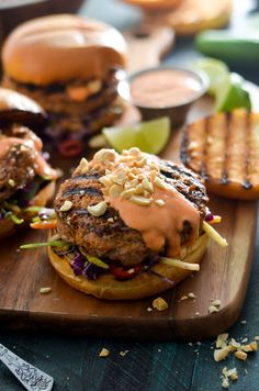 th Spicy Mayo and Coconut-Lime Slaw. Give up bland turkey burgers forever-- a little Thai curry paste makes all the difference in these flavor-packed patties.   hostthetoast.com