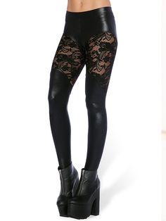 Bootleg Lace Leggings (WW $90AUD / US $72USD) by Black Milk Clothing