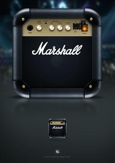 Marshall iOS icon by Tobias Holmgren, via Behance