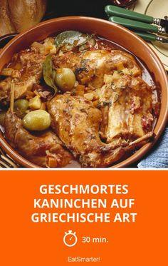Geschmortes Kaninchen auf griechische Art - smarter - Zeit: 30 Min. | eatsmarter.de