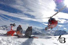 Bohemian birds helicopter skiing Caucasus