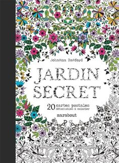 Jardin Secret 20 Cartes Postales Detachables A Colorier