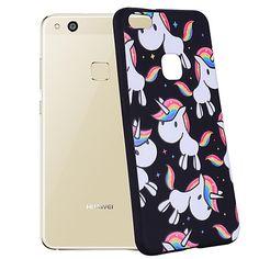 Case Kompatibilitás Huawei Minta Hátlap Egyszarvú Puha Szilikon mert Huawei P10 Lite Huawei P10 Huawei P9 Lite Huawei P8 Lite 2017 - €5.41