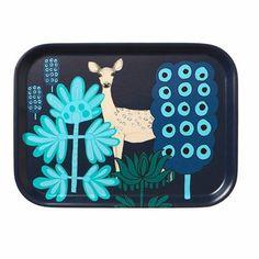 #pintofinn  Marimekko Kaunis Kauris Navy/Turquoise Small Tray
