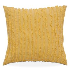 Golden Glow. Captivate any space with the mood-boosting sunshine hues of the Gwendolyne II Euro sham. Made with rich, dimensional cornmeal gold fabric and decorated with hand-cut ruffled trim, this piece will make any bedroom brighter. Free shipping! Have this in your home in 7 days or less. Price does not include bed. Available in select stores; call nearest store for details.