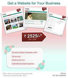 One of the best deals to create a #website for a small start-up business. #Eleiss template a003