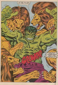 Diversions of the Groovy Kind: Making a Splash: The Power of Ron Wilson's Hulk!