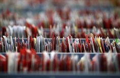 Sorted christmas letters sit in a row at Royal Mail's Medway Sorting Centre