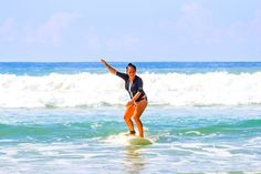 Stoked is.... catching your own wave for the first time! www.chicasurfadventures.com/costa-rica-surf-camp #surfcampforwomen #costaricasurfing #yogasurfretreat