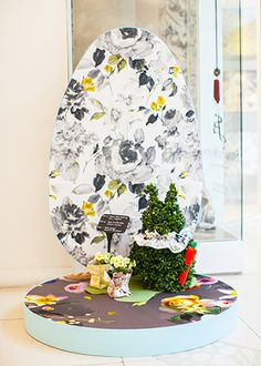 Fabric/Wall paper eggs - Easter Party 2014 at Design Centre, Chelsea Harbour