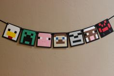 Minecraft inspired really cute banner use as a by HaveYourParty, $36.00