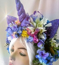 Lilacs unicorn purple horn glitter ears cosplay dubstep rave headpiece Sits on a headband SOLD AS IS NO RETURNS Not for small children Wig and mannequin not included      EDC Las Vegas 2017 - Festival Phenix New Orleans Black Hat Society via New Orleans Witches Ball hand made by pamzylove 2015 burning-man headpieceLion warrior pheasant feathers cock feathers gold leppard warrior princess indian burningman cosplay Burning Man is a week-long annual event that began in San Franciscos Baker…