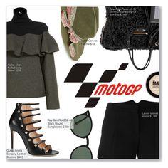"""MotoGP Style"" by nindi-wijaya ❤ liked on Polyvore featuring Scala, Gucci, Lanvin, Balenciaga, Ray-Ban and Maybelline"