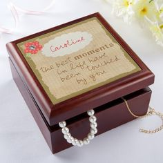 Keep your memories in this personalized keepsake box.