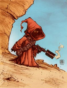 Skottie Young - Jawa #DailySketch — Over a long road trip, broken up by getting stuck...