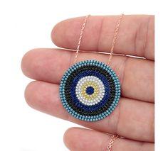 Nano Turquoise Evil Eye Necklace - Unique Evil Eye Jewelry Designs.