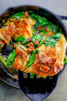 One Pot Bacon Garlic Chicken and Spinach Dinner is a delicious, savory, rich, and luxurious complete meal in just one pot and under 20 minutes!