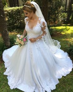 Princess Wedding Dresses, Fall Wedding Dresses, Elegant Wedding Dress, Cheap Wedding Dress, Wedding Gowns, Bridal Style, Pretty Dresses, Marie, Ball Gowns