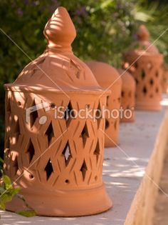 Ceramic Lanterns click the image or link for more info. Ceramic Lantern, Ceramic Candle Holders, Lantern Candle Holders, Ceramic Pottery, Pottery Art, Ceramic Art, Garden Lanterns, Lanterns Decor, Slab Ceramics