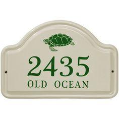 Ceramic Address Plaque Turtle