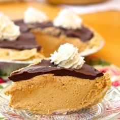 Peanut Butter Pie with rich Chocolate Ganache