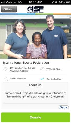 International Sports Federation in Acworth, GA #GivelifyNonprofits