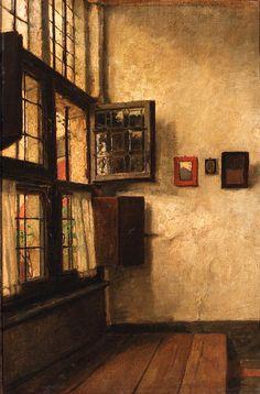 The artist's studio,  Juliaan De Vriendt. Belgian (1842 - 1935)
