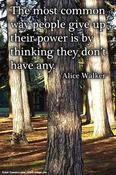 Don't give up your #power.