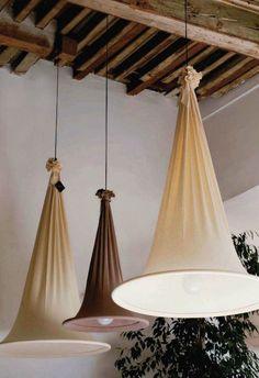 Ceiling lighting diy lampshades Ideas for 2019 Home Crafts, Diy Home Decor, Ceiling Lamp, Ceiling Lights, Ceiling Ideas, Diy Luminaire, Rustic Fabric, Ideias Diy, Outdoor Lighting