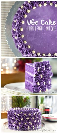 Ube cake (or Filipino purple yam cake) is unlike any cake you've had before. I… Ube cake (or Filipino purple yam cake) is unlike any cake you've had before. It's sweet and earthy and purple! A staple in any Filipino celebration. Filipino Dishes, Filipino Desserts, Filipino Recipes, Filipino Food, Pinoy Food, Philipinische Desserts, Asian Desserts, Purple Desserts, Postres Filipinos
