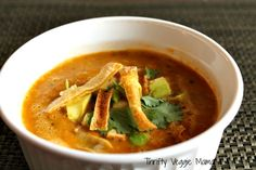 Vegan Tortilla Soup from Thrifty Veggie Mama