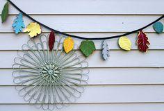 Felt Leaf Garland by maureencracknell, via Flickr