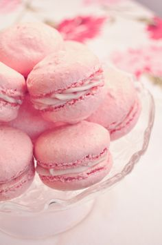 rosewater and raspberry macaroons~Such a pretty picture...though I'd never actually 'bake' a macaroon, but Love them:)