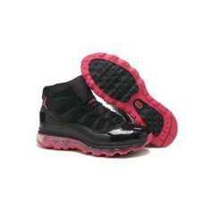 quality design 07f79 cfcbe Nike Air Jordan 11 Max Black (Noir) rose Chaussures Femmes