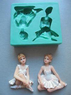 Silicone Mould Ballerinas Sugarcraft Cake Decorating Fondant Fimo Mold   eBay
