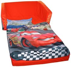 disney cars flip out sofa australia chocolate brown leather sectional 13 best bed images sleeper beds couch marshmallow fun furniture open with slumber attachment