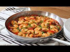Quick & Easy Paella - Oven Baked Sausage & Shrimp Paella Recipe - YouTube