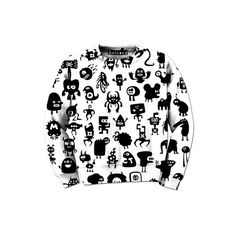 "belovedwear® presents the #MiniMonsters Sweatshirt. This ""all over"" print crewneck sweatshirt is made using a special sublimation technique to provide a vivid graphic image throughout the shirt. • 100"