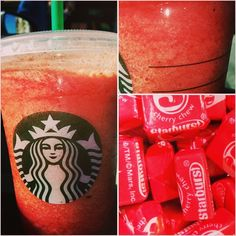 Try the *Red Starburst Frappuccino* from our Secret Starbucks Menu! Tastes just like the real thing! . visit SecretStarbucks.com for more (link in bio)