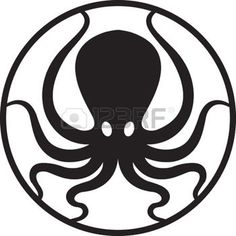 Illustration of Octopus vector art, clipart and stock vectors. Stencils, Stencil Art, Tattoo Pirate, Octopus Drawing, Plasma Cutter Art, Octopus Illustration, Fish Coloring Page, Octopus Tattoos, Silver Ring Designs