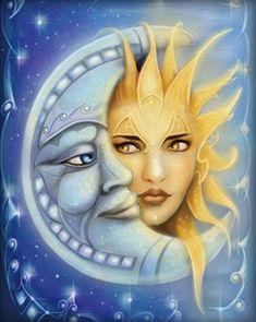 60 Ideas Tattoo Moon And Sun La Luna Moonlight Sun Moon Stars, My Sun And Stars, Art Soleil, Arte Peculiar, Sun Art, Moon Magic, Beautiful Moon, Moon Goddess, Moon Child
