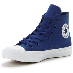 Converse Chuck Taylor All Star Ii Evergreen Hi-Top Trainer ($85) ❤ liked on Polyvore featuring shoes, sneakers, high top trainers, high top shoes, canvas sneakers, converse trainers and converse sneakers